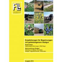 Empfehlungen für Begrünungen mit gebietseigenem Saatgut, 2014 (Broschüre)