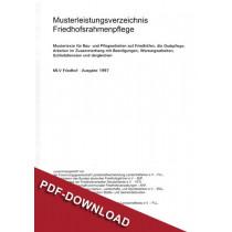 Musterleistungsverzeichnis (MLV) Friedhofsrahmenpflege, 1997 (Downloadversion)