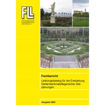 """Fachbericht: """"Leistungskatalog für die Erarbeitung Gartendenkmalpflegerischer Zielplanungen"""" (Broschüre)"""